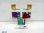 murano glass candlestik art. 04