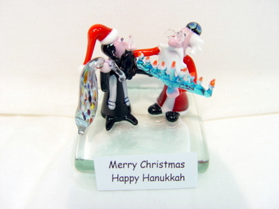 Merry Christmas- Happy Hanukkah - David's Shop - Murano glass ...