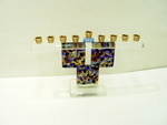 murano glass hannukah Art. 05