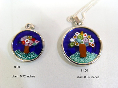 murano glass pendent Tree of Life