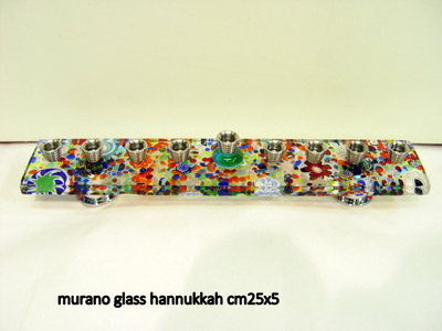 murano glass hannukkah