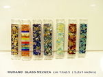 Murano glass Mezuza with gold leaf
